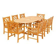 Great Reviews Crawford 9 Piece Dining Set