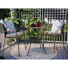 Gretna 3 Piece Bistro Set with Cushion
