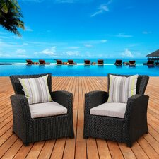 Aquia Creek Arm Chair with Cushions (Set of 2)
