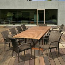 Fresh Big Coppitt Key 11 Piece Dining Set