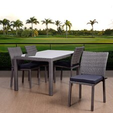 Aquia Creek Patio 5 Piece Dining Set with Cushions