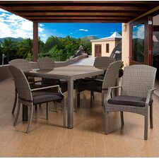 Aquia Creek 7 Piece Rectangular Patio Dining Set with Cushions