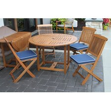 Wiscon Round Fold and Store 5 Piece Dining Set