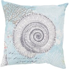 Ruthar Mesmerizing Sea Shell Outdoor Throw Pillow