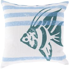 Ruthar Stripes and Fish Outdoor Throw Pillow