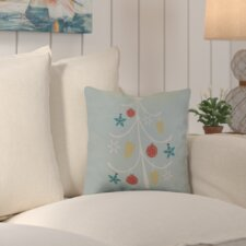 Decorative Holiday Geometric Print Outdoor Throw Pillow