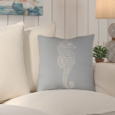 Brookline Seahorse Indoor/Outdoor Throw Pillow
