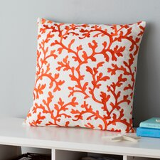 Coral All Over Indoor / Outdoor Euro Pillow (Set of 2)