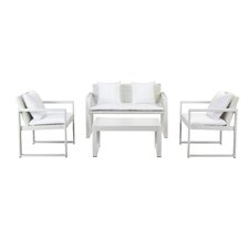 Hartly 4 Piece Lounge Seating Group with Cushion