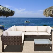 Fresh Aquia Creek 6 Piece Seating Group with Cushion