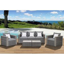 Aquia Creek 5 Piece Deep Seating Group with Cushions