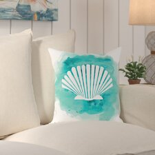 Stanfield Watercolor B Shell Outdoor Throw Pillow