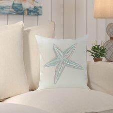 Sherborn Sea Star Coastal Print Outdoor Pillow