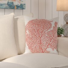 Spice Fan Coral Indoor / Outdoor Euro Pillow (Set of 2)