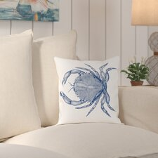 Attleboro Crab Quad 1 Outdoor Throw Pillow