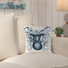 Wallingford Wood Odd Angle Octopus Outdoor Throw Pillow