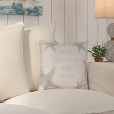 Chesire Dreaming of a Sandy Christmas Indoor/Outdoor Throw Pillow