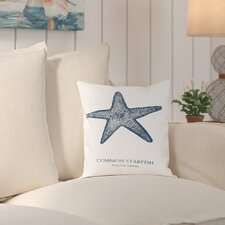 Killingworth Starfish Sea Outdoor Throw Pillow