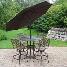 Claremont 6 Piece Bar Set with Cushions and Umbrella