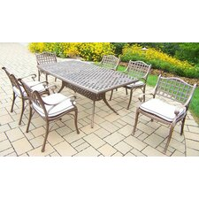 Claremont 7 Piece Dining Set with Cushions