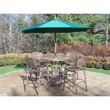 Claremont 5 Piece Bar Set with Umbrella