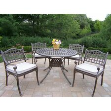 Claremont 5 Piece Dining Set with Cushions