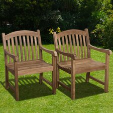 Elsmere Stacking Dining Arm Chair (Set of 2) (Set of 2)