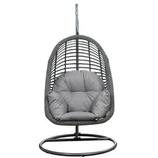 Stonington Hanging Basket Spuncrylic Swing Chair with Stand with Stand