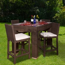 Aquia Creek 5 Piece Bar Height Dining Set