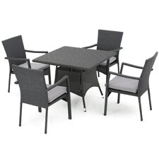 Lotus 5 Piece Dining Set with Cushions
