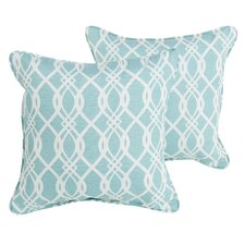 Brockway Indoor/Outdoor Corded Throw Pillow (Set of 2)