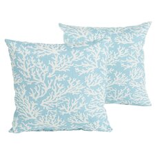 Best #1 Sutton Reef Indoor/Outdoor Throw Pillow (Set of 2)