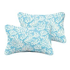 Sutton Reef Corded Indoor/Outdoor Lumbar Pillow (Set of 2)