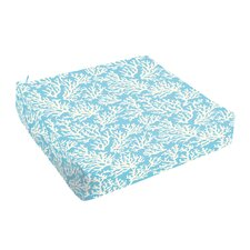 Sutton Reef Indoor/Outdoor Square Dining Chair Cushion