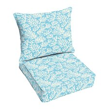 Maysville 2 Piece Outdoor Dining Chair Cushion Set