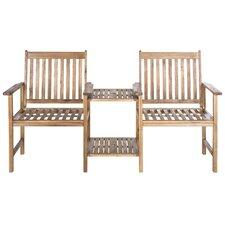 Brea Acacia Twin Seat Garden Bench