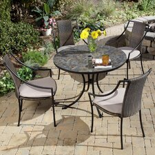 Sequoyah 5 Piece Dining Set with Cushions