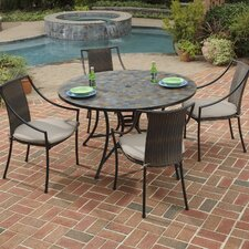 Today Only Sale Sequoyah 5 Piece Dining Set with Cushions