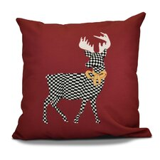 Decorative Holiday Animal Print Outdoor Throw Pillow