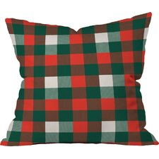 Birchwood Christmas Plaid Indoor/Outdoor Throw Pillow