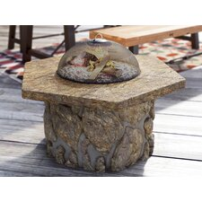 Ryegate Glass Fiber Fire Pit Table