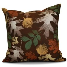 Brookfield Watercolor Leaves Floral Outdoor Throw Pillow