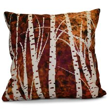 Brookfield Birch Trees Floral Outdoor Throw Pillow
