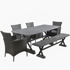 Blagnac 6 Piece Dining Set with Cushions