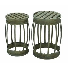Debcoe 2 Piece Barrel Bar Stool Set