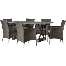 Bloomer 7 Piece Dining Set with Cushions