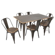 claremont  piece dining set claremontpiecediningset claremont  piece dining set: seven piece dining set