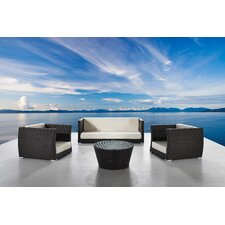 Cappuccino 4 Piece Seating Group with Cushions