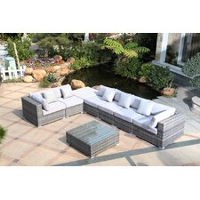 Slater 8 Piece Deep Seating Group with Cushions