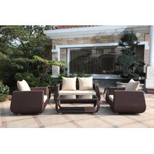 Bistre 6 Piece Deep Seating Group with Cushions
